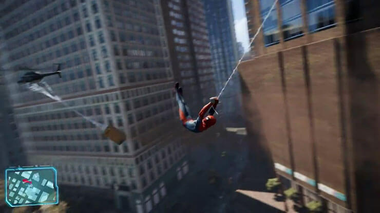 spiderman web slinging ps4