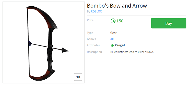 bombos bow and arrow