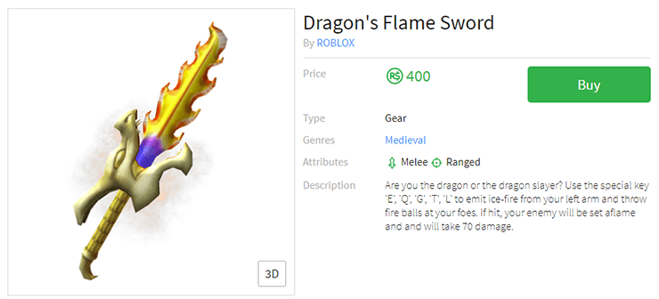 fire dragon sword roblox
