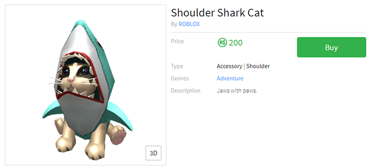 shoulder shark cat