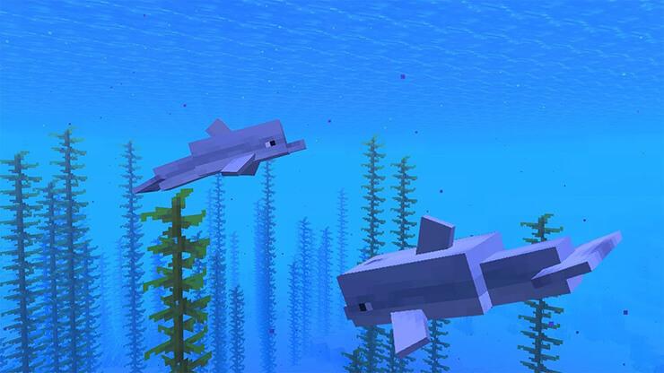 dolphins minecraft