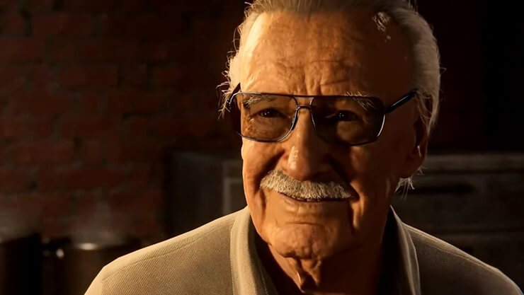 stan lee spiderman ps4