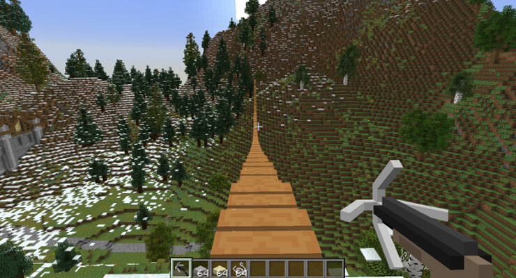 minecraft rope bridge