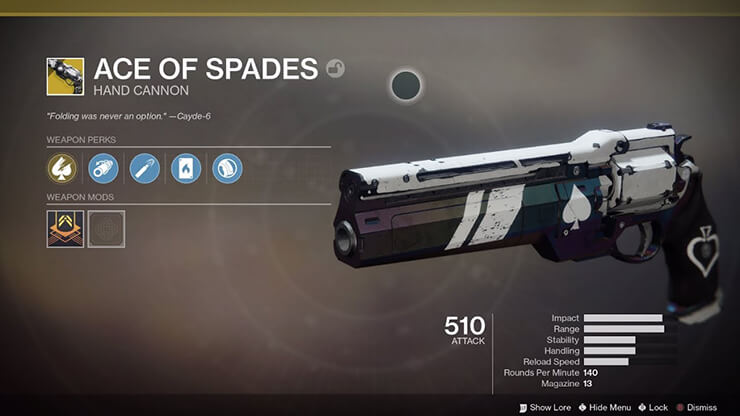 ace of spades destiny 2