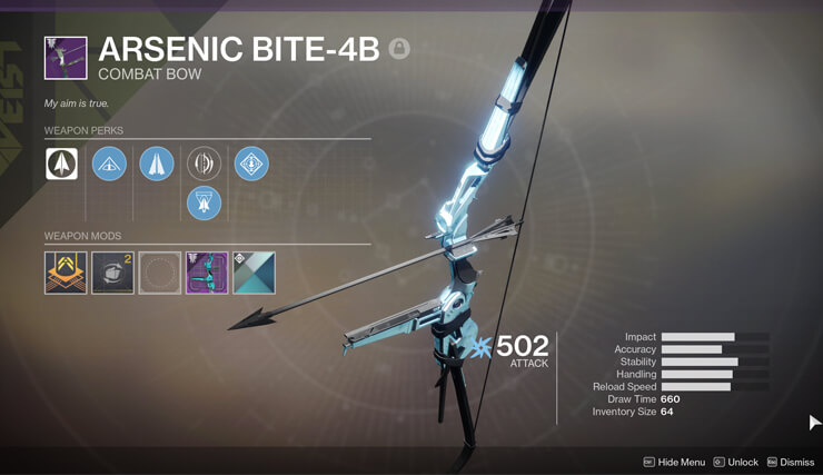 best destiny 2 weapons arsenic bite