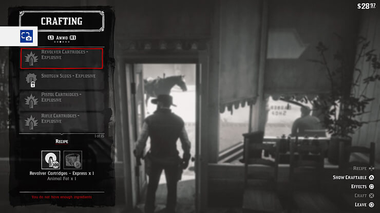ammo recipes red dead redemption