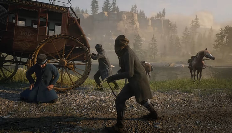 use custom outfit and a mask during robberies red dead redemption 2