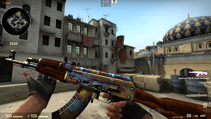 cs go AK 47 Case Hardened