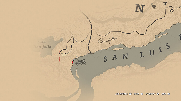 legendary largemouth bass location in red dead redemption 2