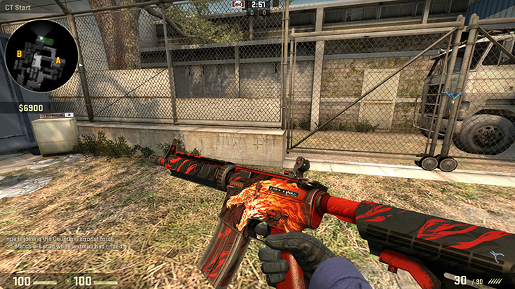 factory new m4 howl
