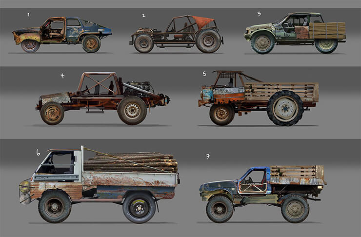vehicles for players in rust