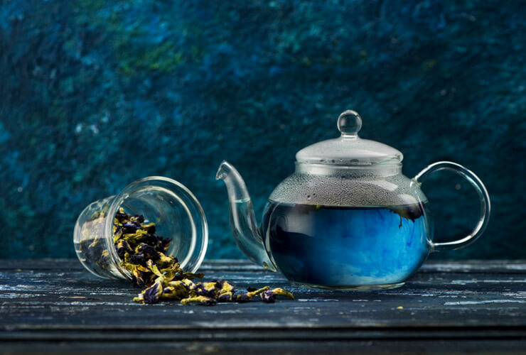 blue tea antioxidizing properties