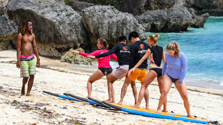 bali guide learn to surf