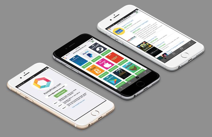 pointsprizes ios app