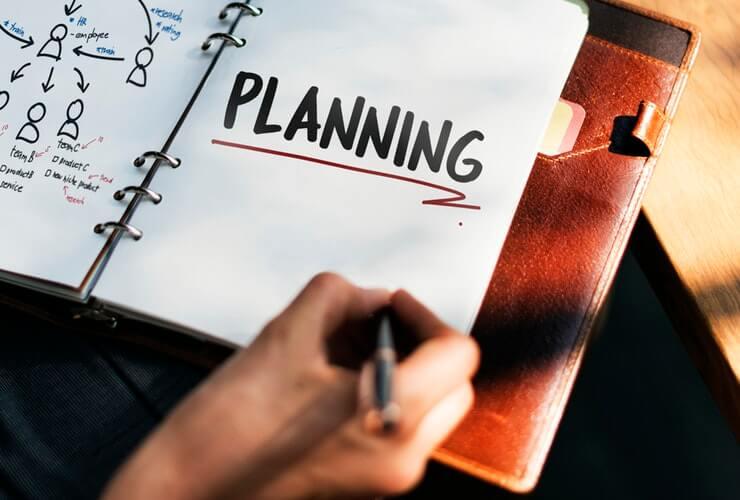 planning beforehand