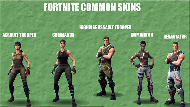 fortnite common skins 1 - fortnite current skins