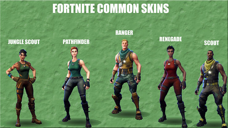 fortnite common skins