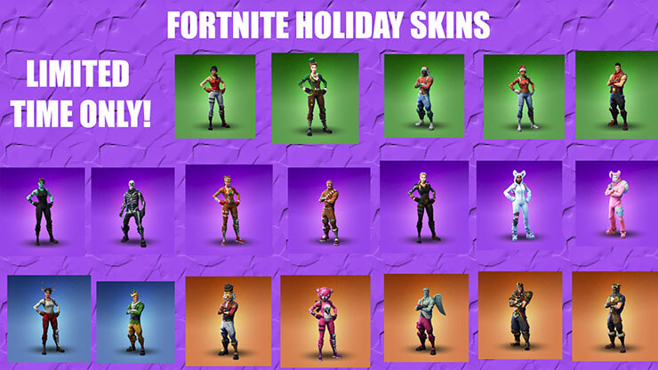fortnite limited holiday skins