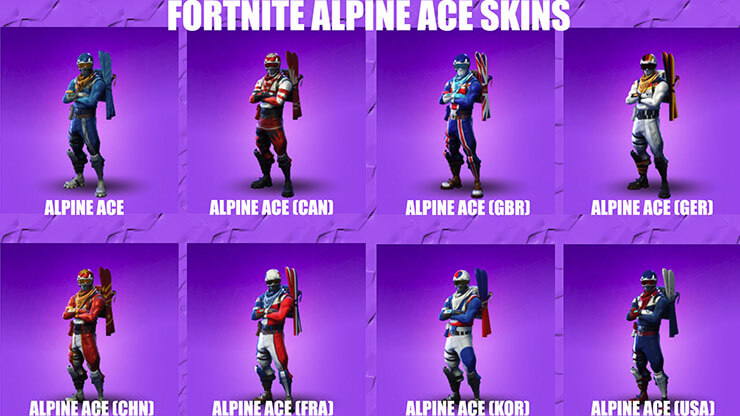 fortnite alpine ace skins