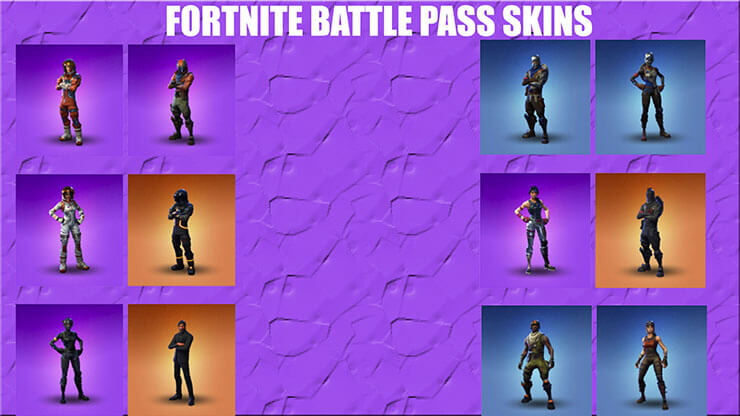 All Battle Pass Fortnite Skins