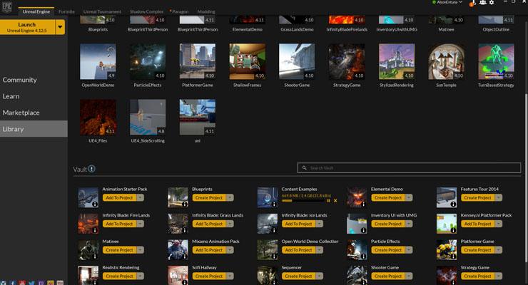 epic games download option