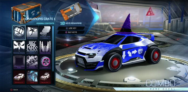 rocket league crate opening