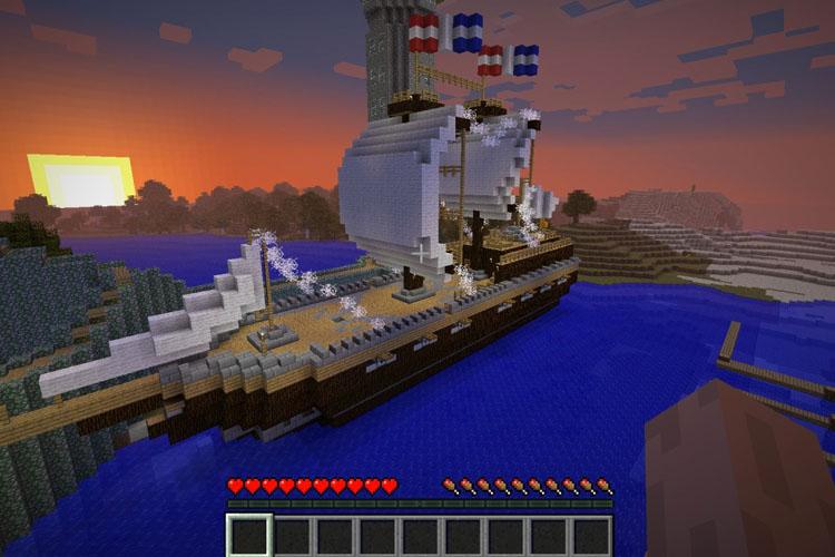 working ship minecraft