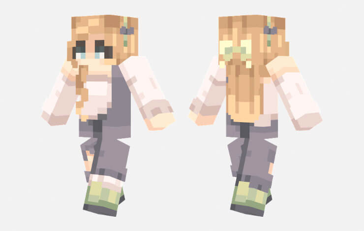 green tea minecraft skin