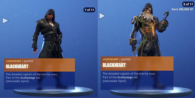 blackheart fotnite skin