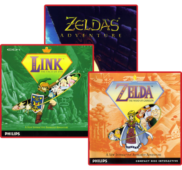 the three zelda games for the philips cd