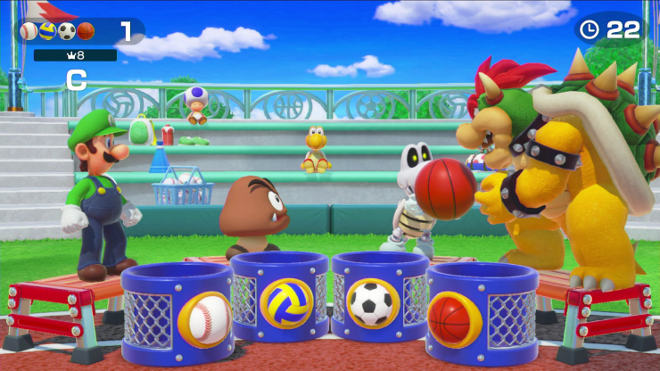 super mario party visuals