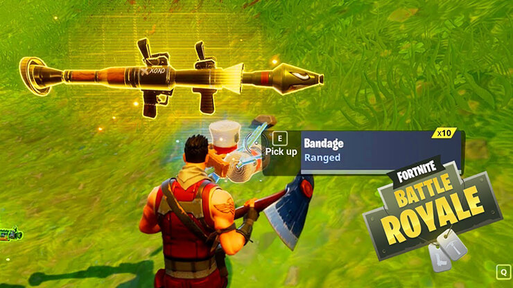 fortnite rocket launcher