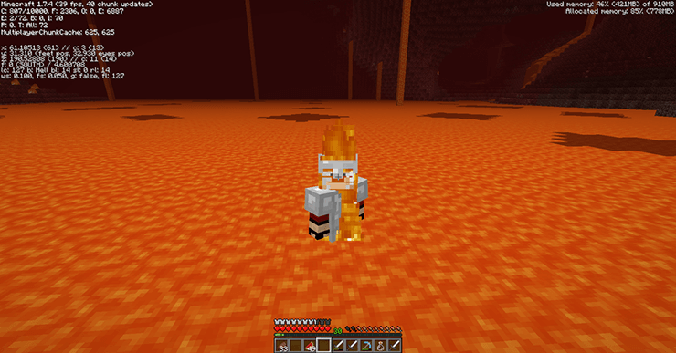 swim in lava minecraft
