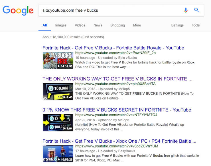 free v bucks youtube
