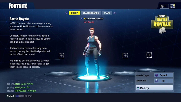 fortnite how to change character - how to chat in fortnite