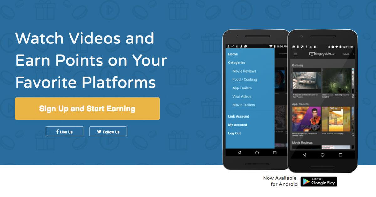 PointsPrizes Partners With EngageMe.Tv - Earn Points By Watching Videos></a><a href=