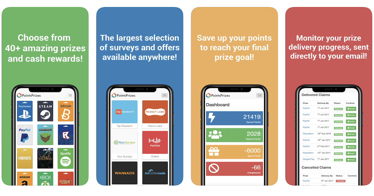 PointsPrizes Releases Next Generation Apps For Android And IPhone Devices